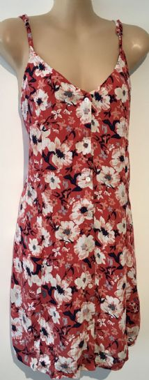 CHEMISTRY CORAL FLORAL BUTTON SUMMER DRESS/TOP BNWT SIZE 14